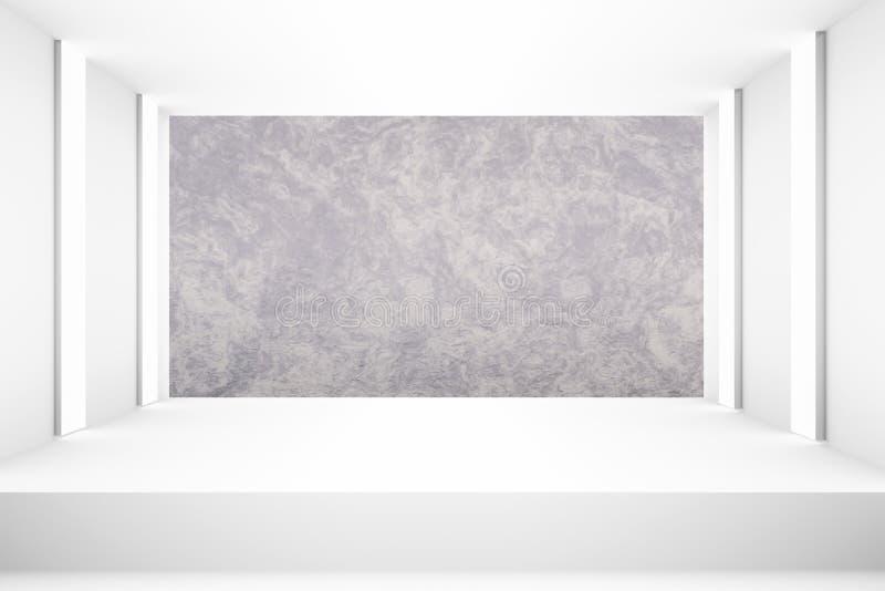 Weißer leerer Raum mit Stadium für Planhintergrund Hintergrunddesignschablonen-PR-freien Raumes stock abbildung