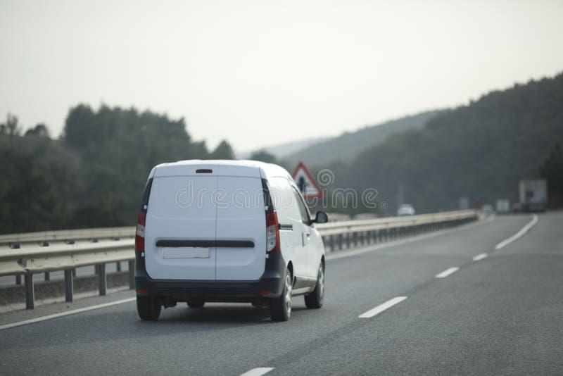 Weißer Lieferwagen stockbilder
