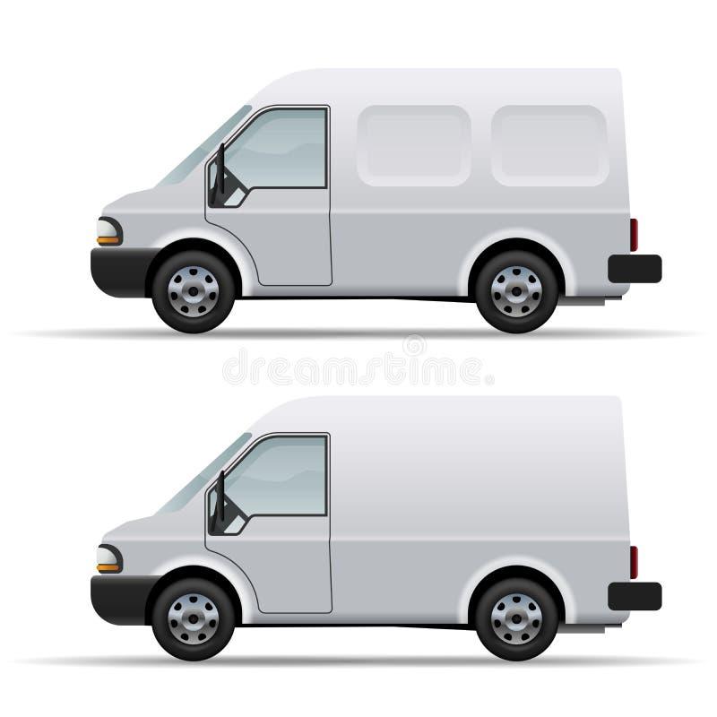 Weißer Lieferwagen lizenzfreie abbildung