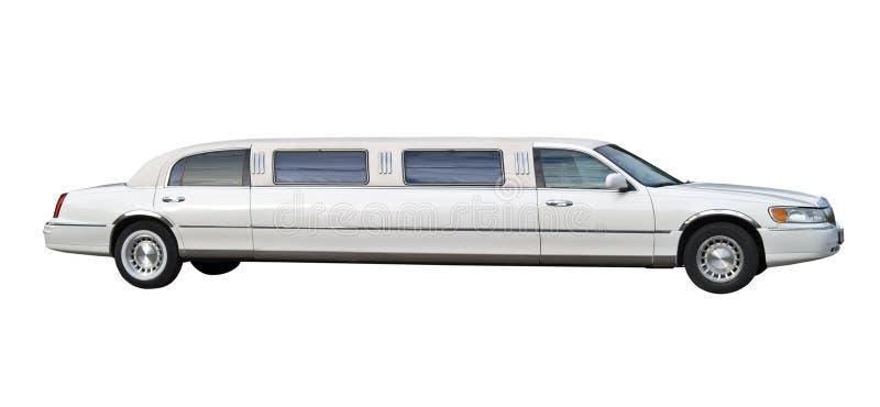 Weißer Limousineausschnitt lizenzfreie stockfotografie