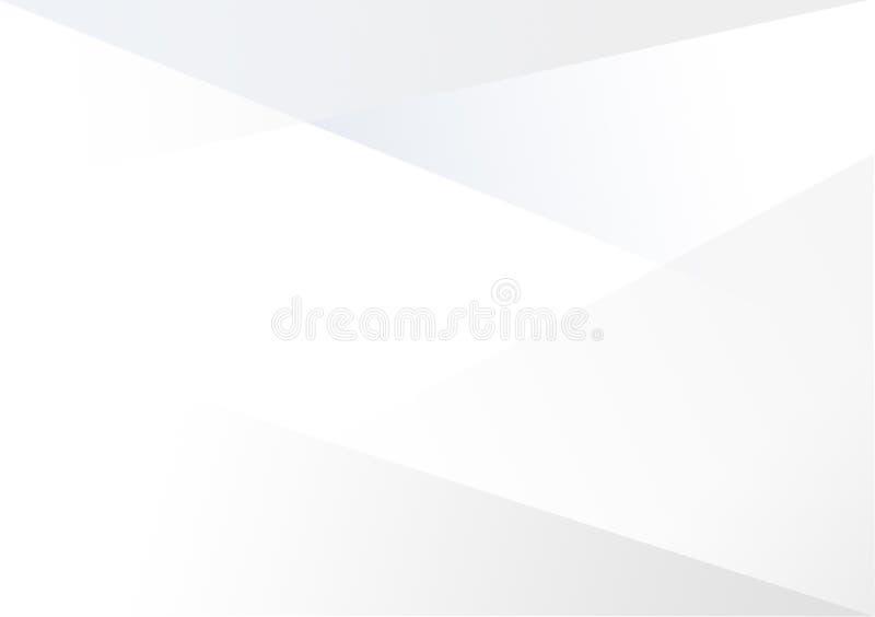 Weißer linearer Formhintergrund-Steigungshintergrund stock abbildung