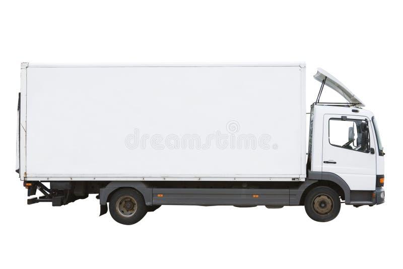 Weißer LKW lizenzfreies stockbild