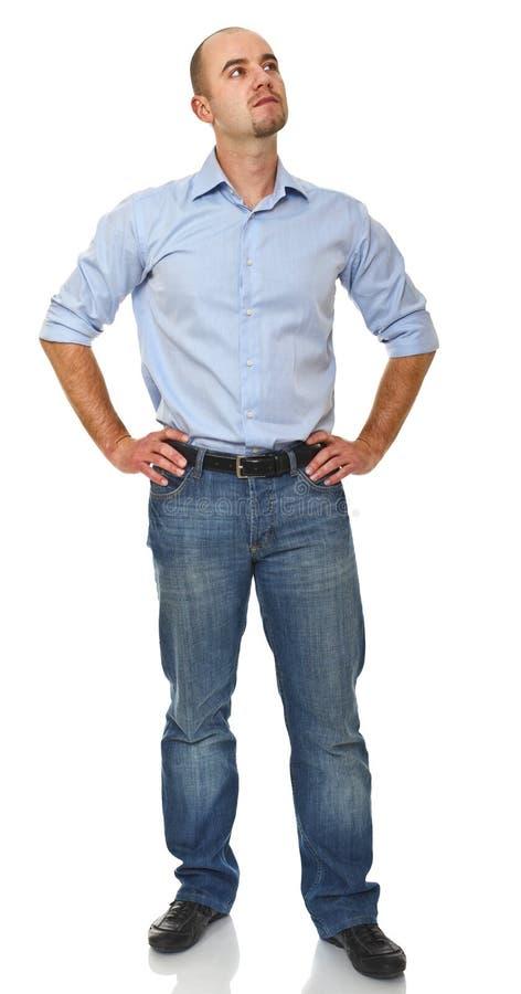 Weißer Mann des Geschäfts stockbilder