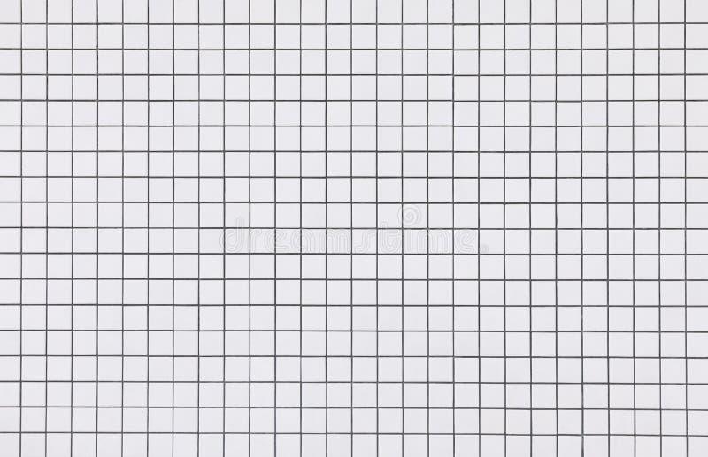 Weißer Mosaikfliesen-Wandmusterhintergrund lizenzfreie stockfotografie