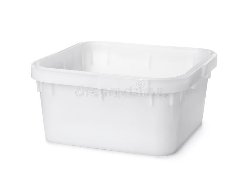 Weißer PlastiknestVoorratsbehälter lizenzfreies stockfoto