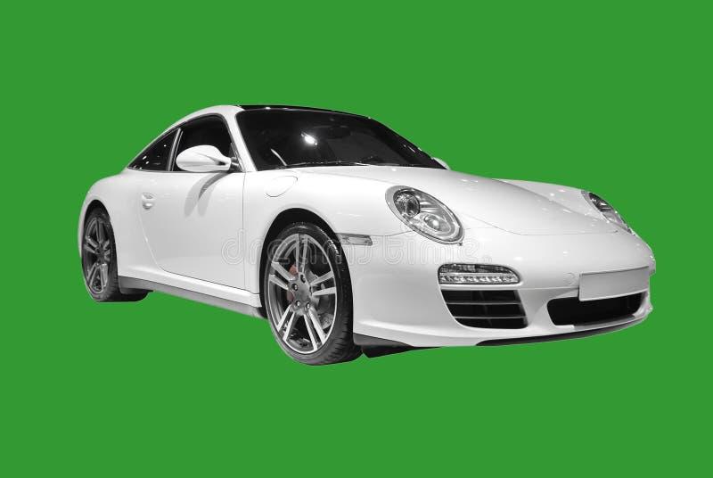 Weißer Porsche lokalisierte stockfotos