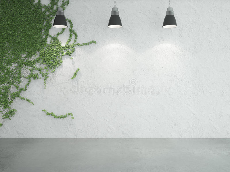 Efeu auf Wand stock abbildung
