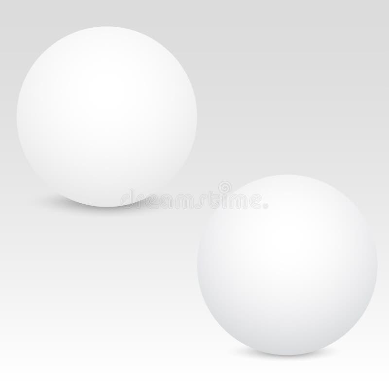 Weißer realistischer Bereich 3D auf grauem Hintergrund Vektor lizenzfreie abbildung