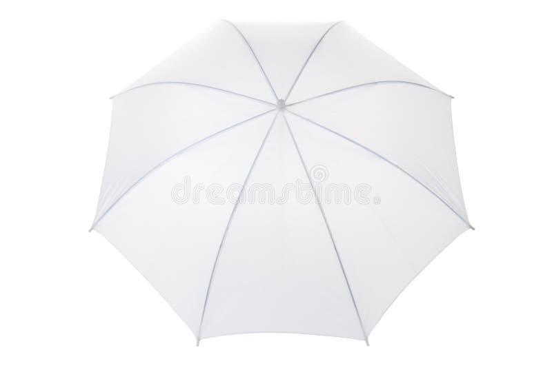 Weißer Regenschirm stockfotografie