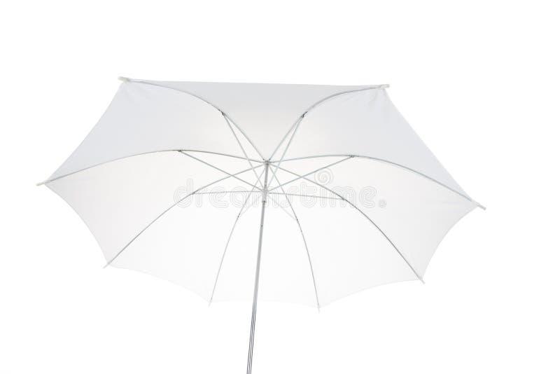 Weißer Regenschirm lizenzfreies stockfoto