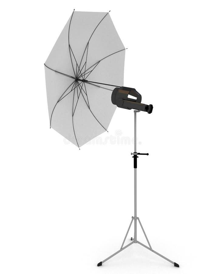 Weißer Regenschirm für Fotographie lizenzfreie abbildung