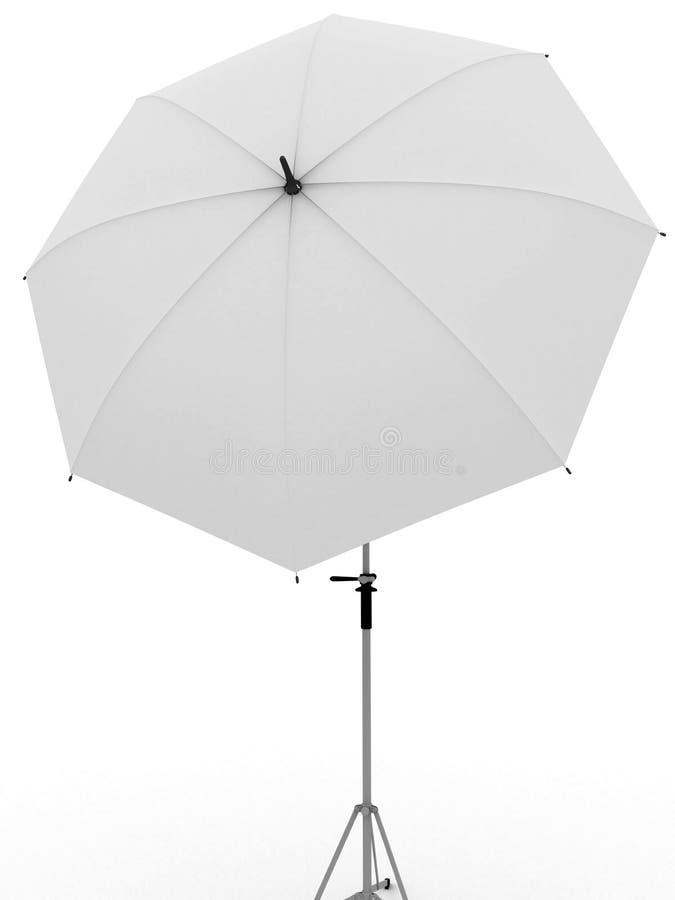Weißer Regenschirm für Fotographie vektor abbildung