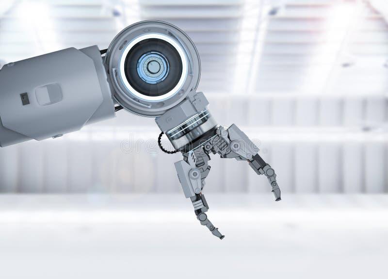 Weißer Roboterarm lizenzfreie abbildung
