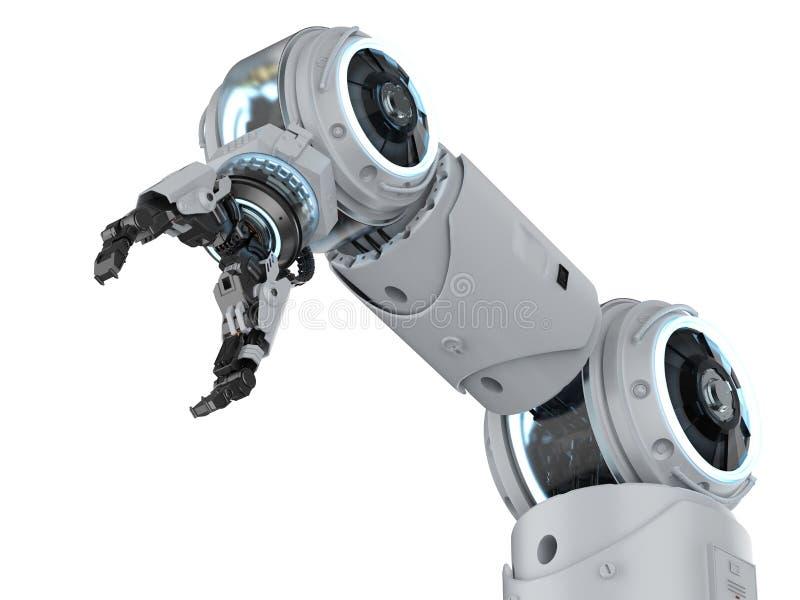 Weißer Roboterarm stock abbildung