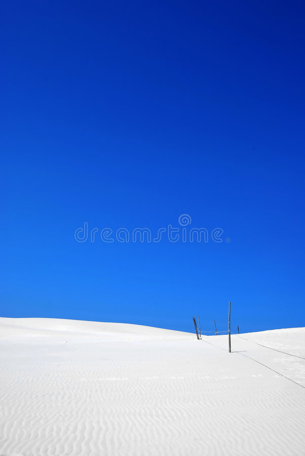 weißer Sand auf der Wüste stockfotografie