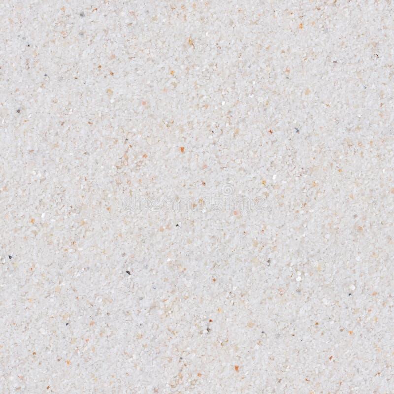 Weißer Sand Nahtlose quadratische Beschaffenheit Fliese bereit stockfotografie