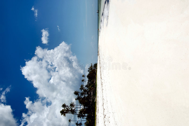 Weißer Sand Zanzibar-Strand stockfoto