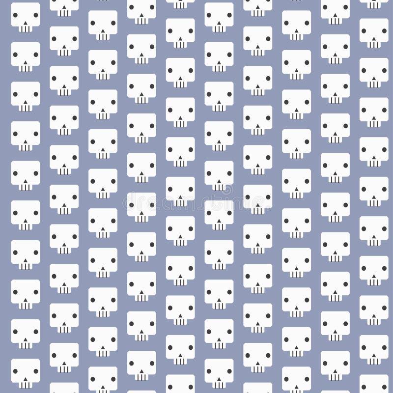 Weißer Schädel kopiert Hintergrund lizenzfreie abbildung