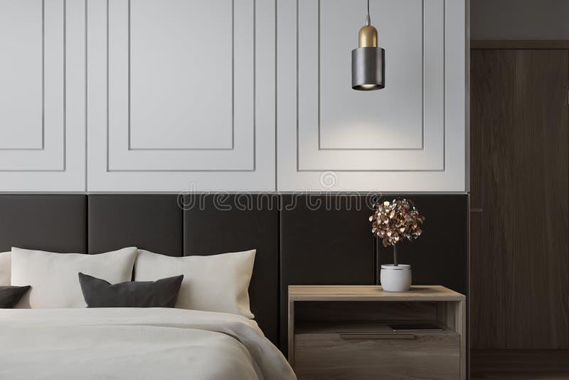Weißer Schlafzimmerinnenraum vektor abbildung