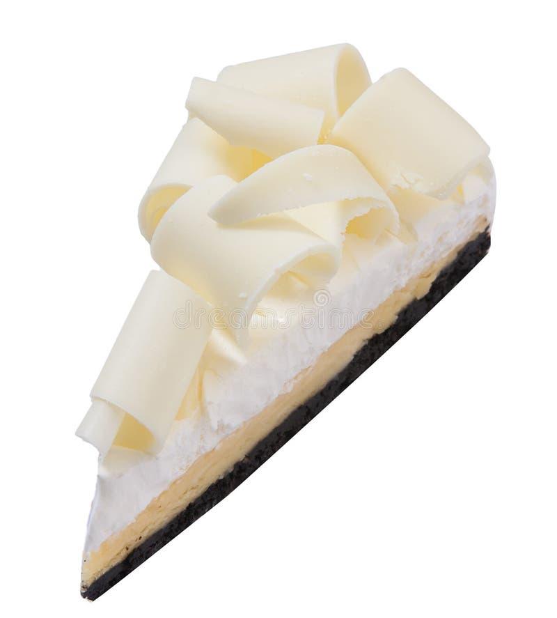 Weißer Schokoladenkäsekuchen lizenzfreie stockfotos
