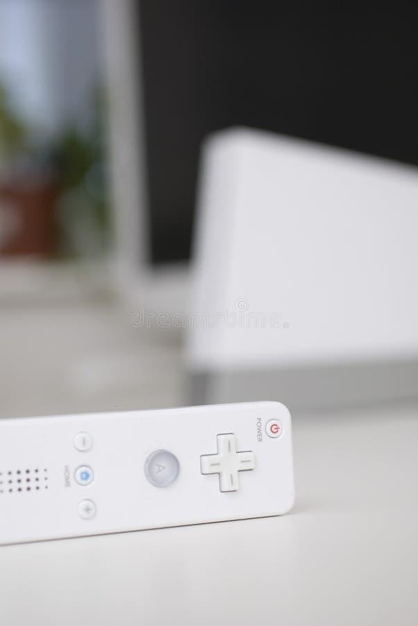 Weißer Spielcontroller stockbilder