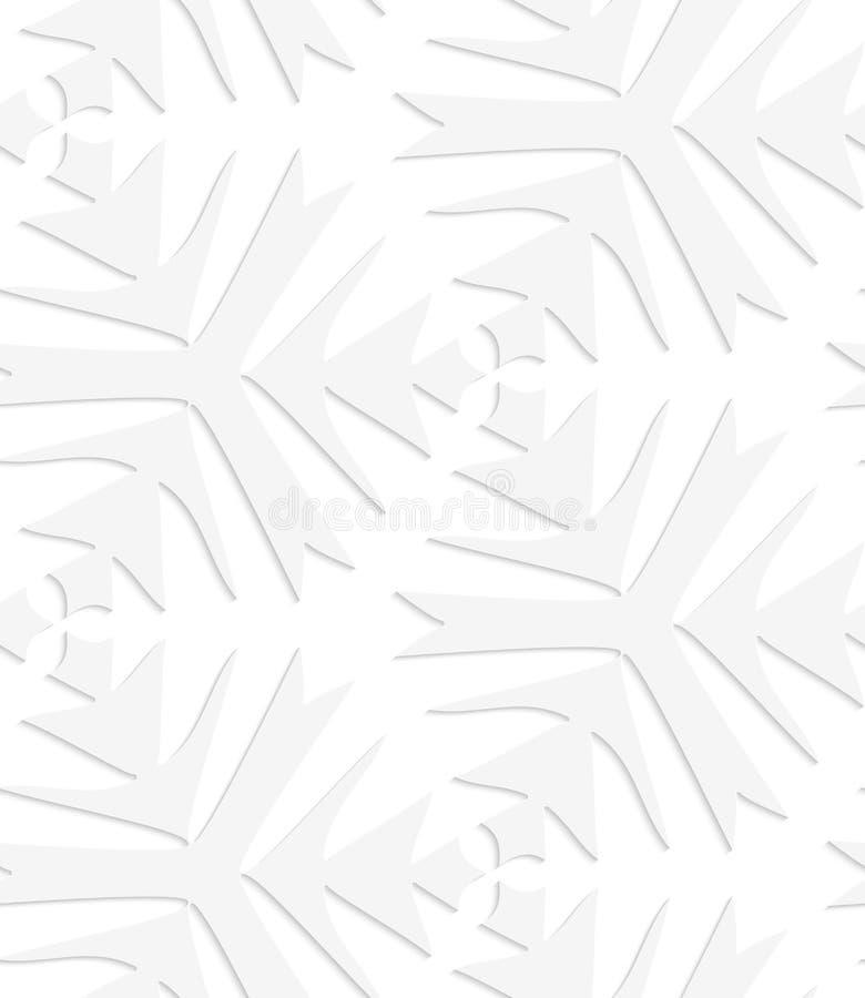 Weißer spitzer komplexer Papierklee stock abbildung