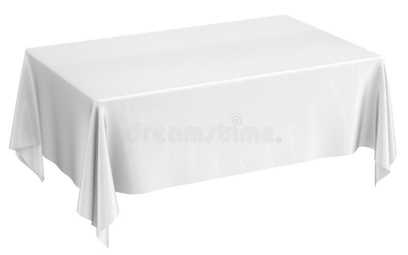 Weißer Stoff auf dem Tisch vektor abbildung