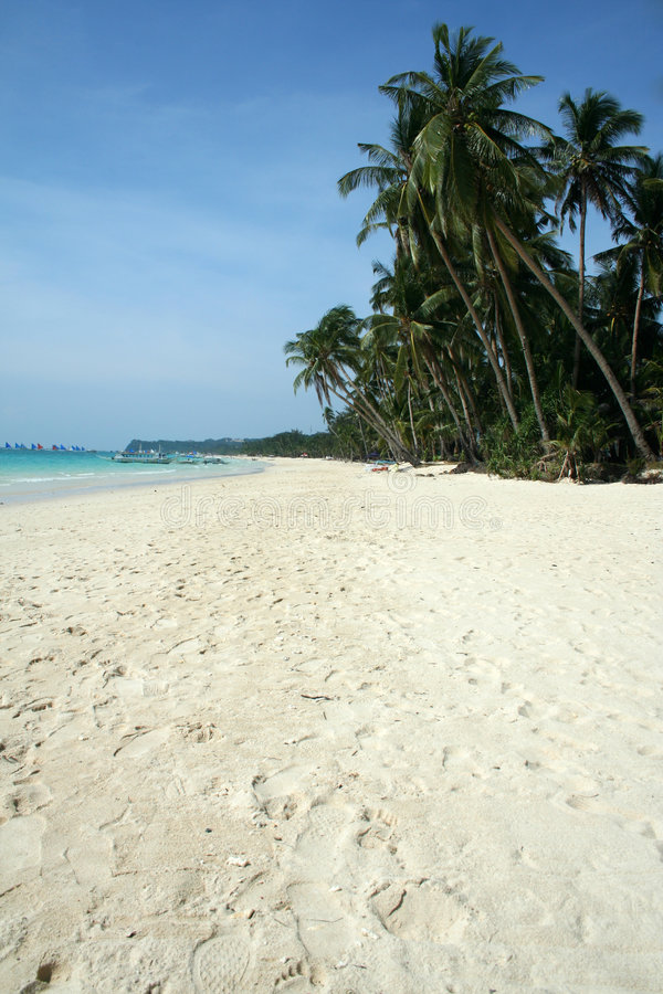 Weißer Strand lizenzfreie stockbilder