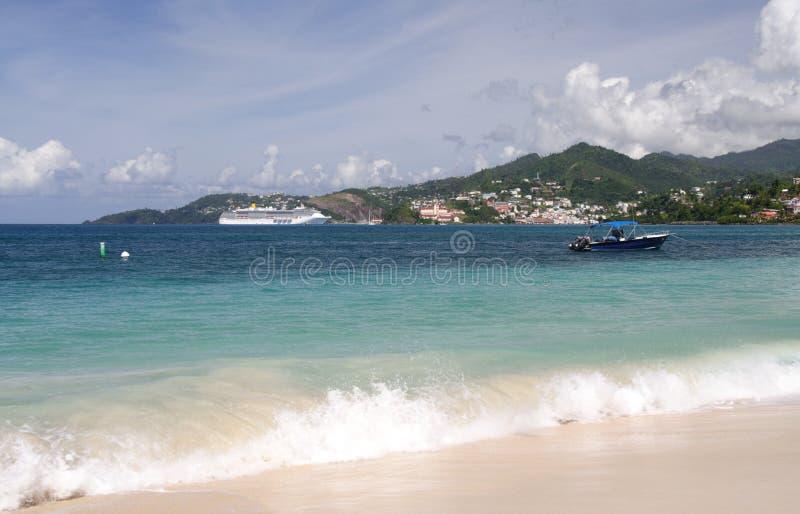 Weißer Strand stockbild
