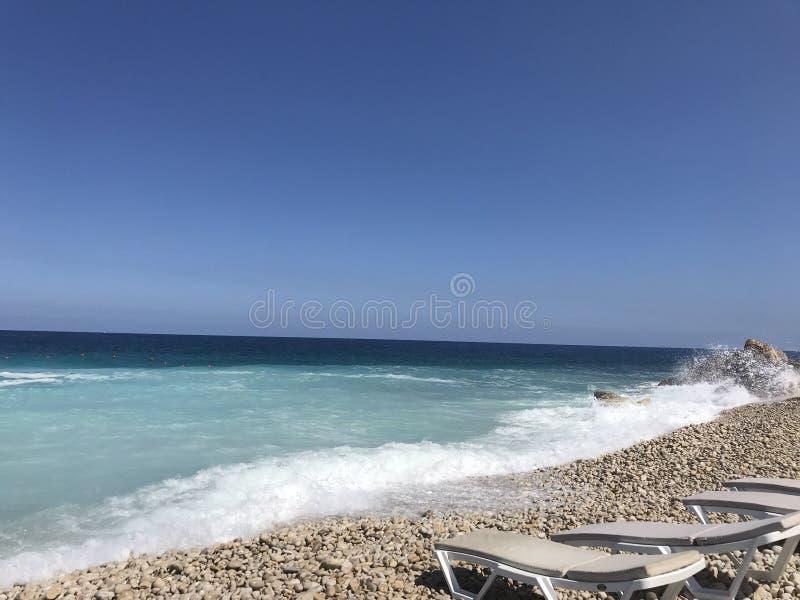 Weißer Strand Batroun-Bezirk Der Libanon Mittlerer Osten lizenzfreie stockfotos