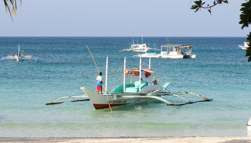 Weißer Strand, Boracay-Insel, Philippinen lizenzfreies stockfoto