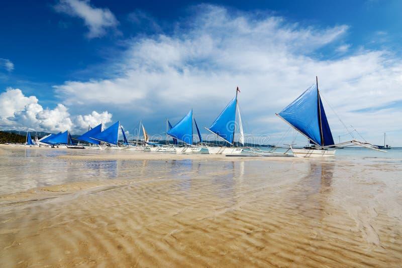 Weißer Strand, Boracay, Philippinen lizenzfreies stockbild