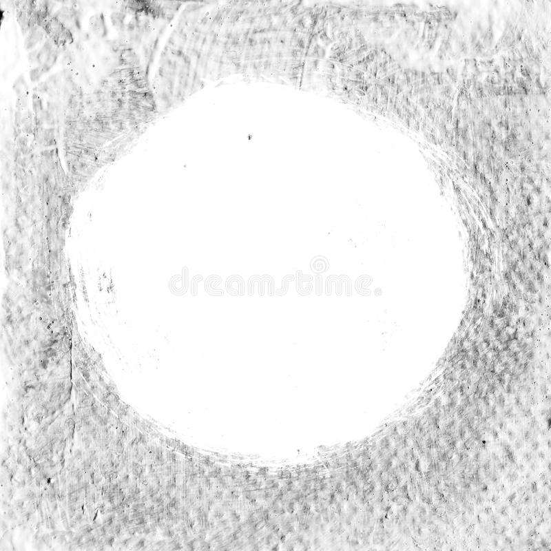 Weißer strukturierter Acrylkreis auf grauem Hintergrund stock abbildung