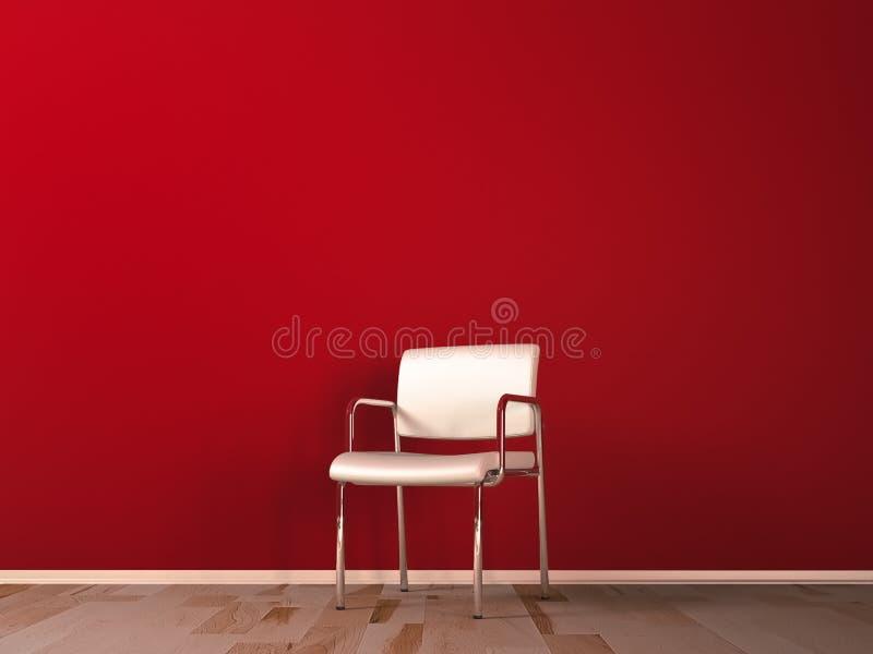 Weißer Stuhl lizenzfreie abbildung