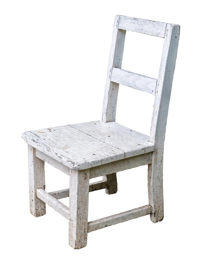 Weißer Stuhl getrennt lizenzfreie stockfotos