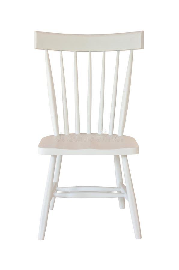 Weißer Stuhl getrennt stockbild