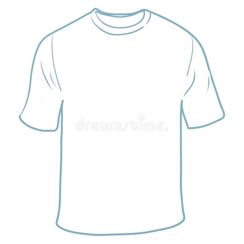 Weißer T-Shirt freier Raum vektor abbildung