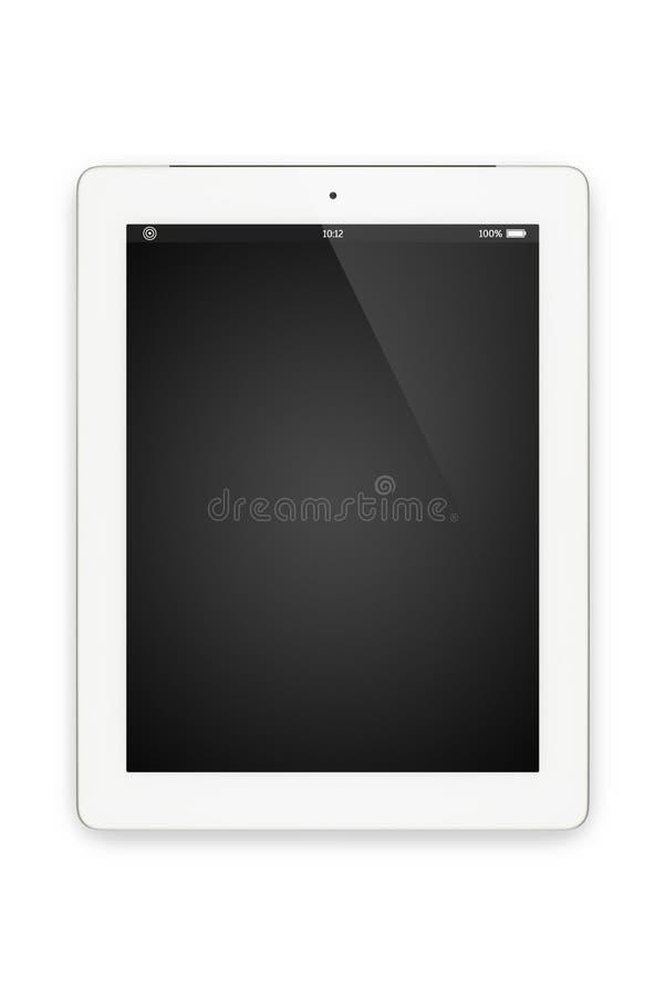 Weißer Tablettencomputer lokalisiert auf Weiß. lizenzfreie stockfotografie