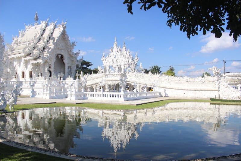 Weißer Tempel in Chiang Rai stockbild