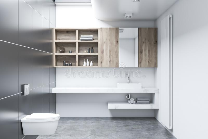 Weißer Toiletteninnenraum, Kabinette lizenzfreie abbildung