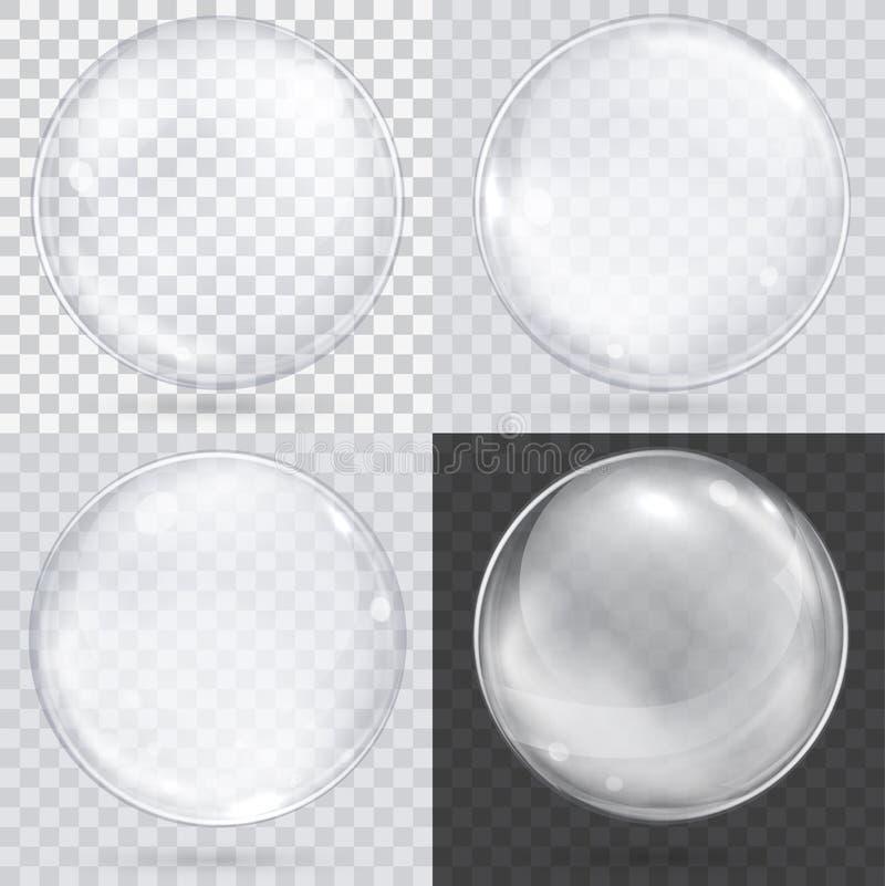 Weißer transparenter Glasbereich auf einem karierten Hintergrund stock abbildung