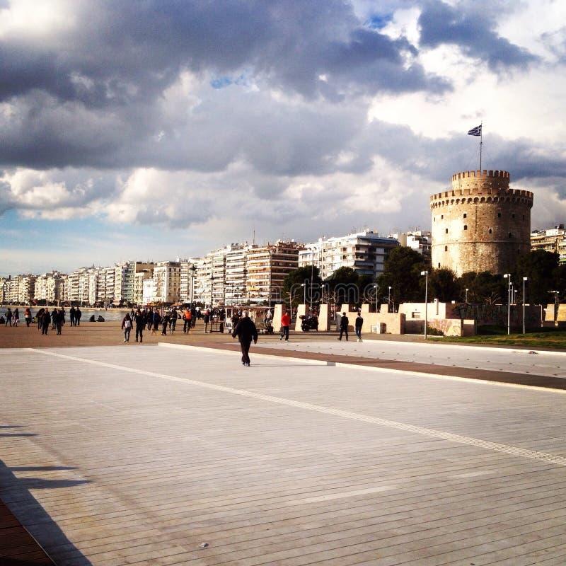 Weißer Turm stockfoto