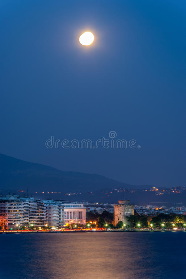 Weißer Turm, Saloniki, Griechenland lizenzfreie stockbilder