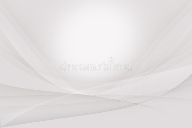 Weißer und grauer silberner abstrakter Hintergrund stock abbildung