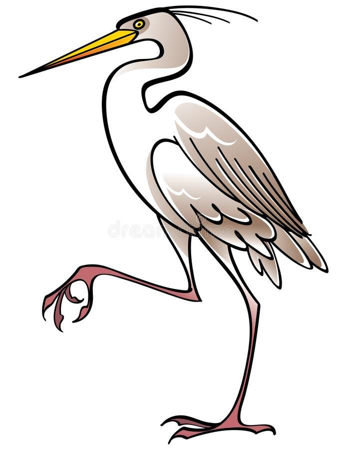 Weißer Vogel Reiher vektor abbildung