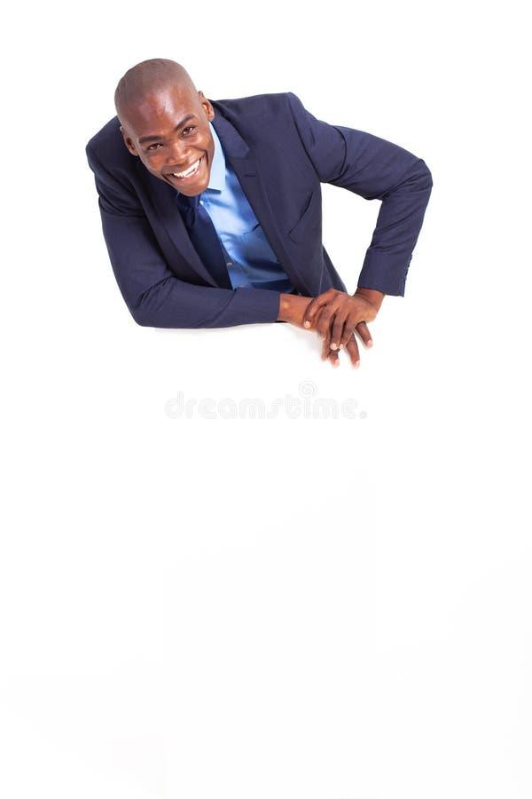 Weißer Vorstand des Geschäftsmannes stockfoto