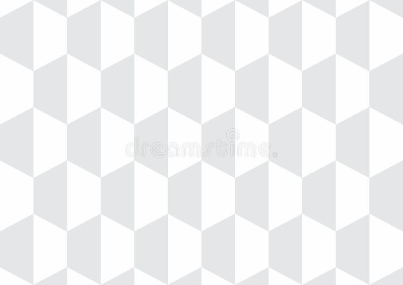 Weißer Würfelvektorhintergrund/-tapete lizenzfreie stockfotos