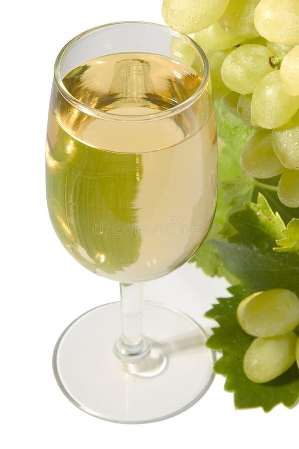 Weißer Wein u. Trauben lizenzfreies stockfoto
