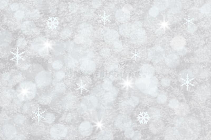 Weißer Winter Bokeh-Hintergrund stockfotografie