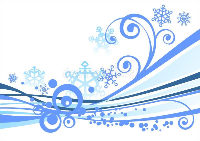 Weißer Winterhintergrund stock abbildung